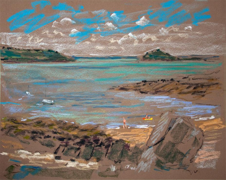 Baie de morlaix le diben plage du port blanc - Meteo port blanc bretagne ...