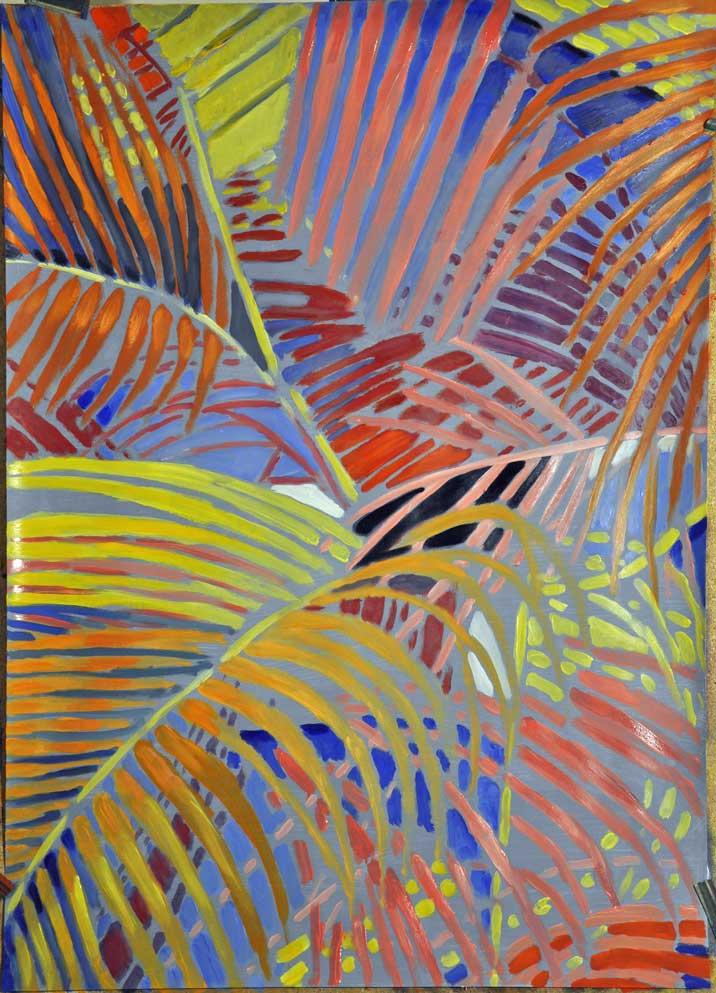palmes tropicales multicolores